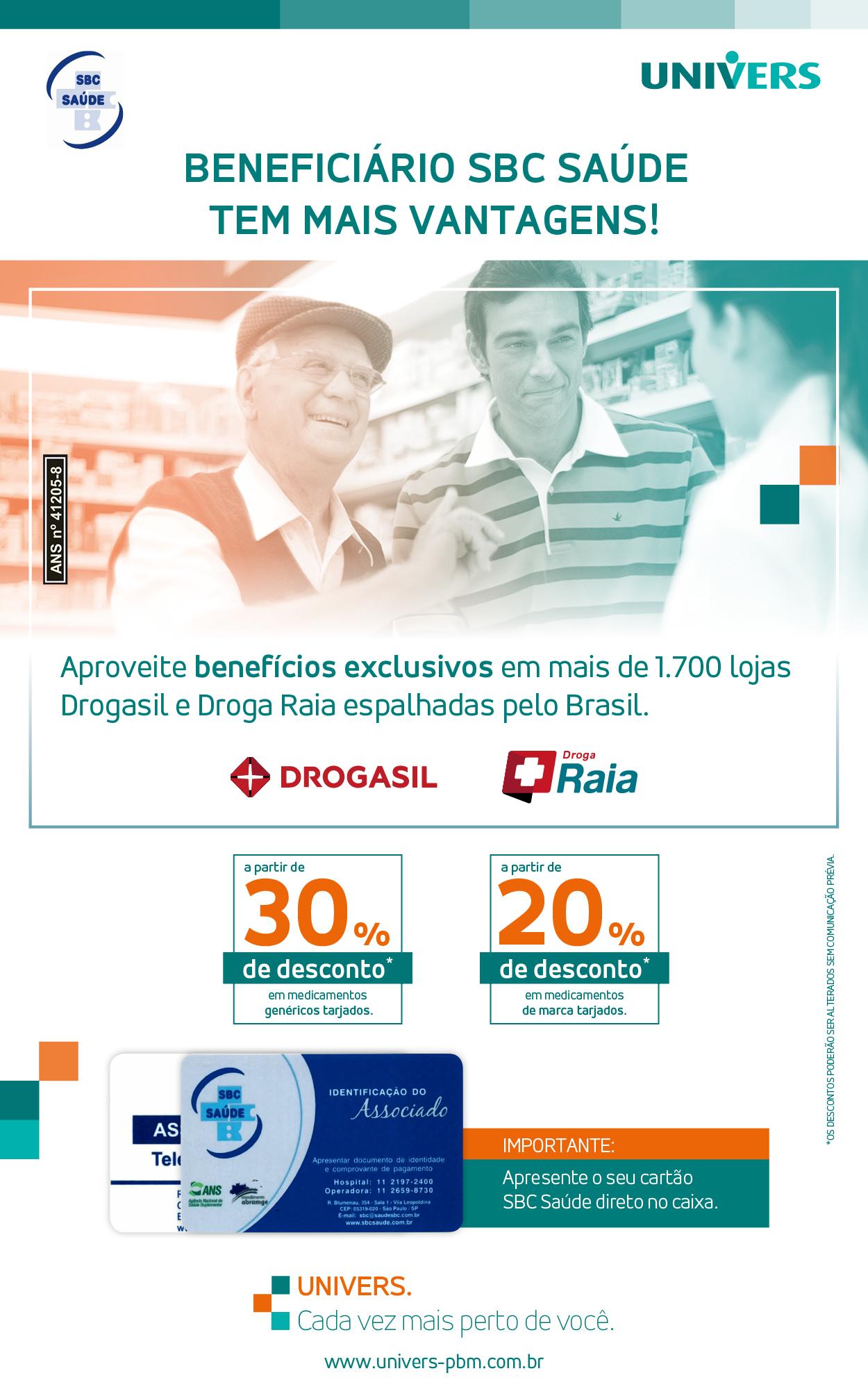 Beneficiário SBC Saúde tem mais vantagens!